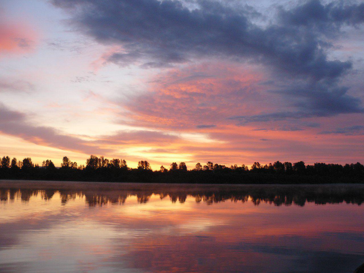Рассвет, Томь, фото