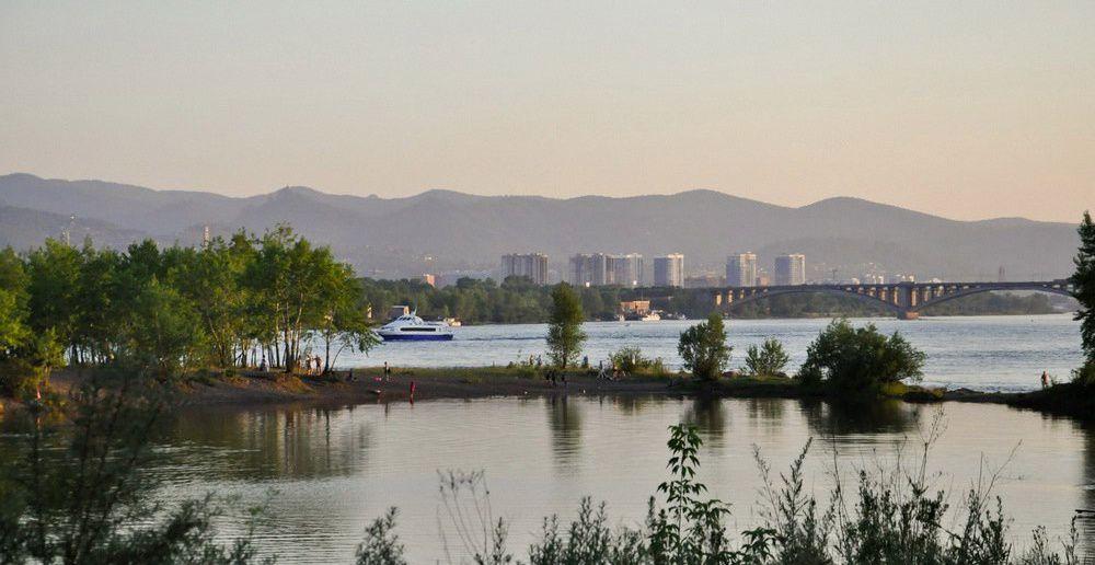 Енисей, Красноярск, остров Татышев, фото