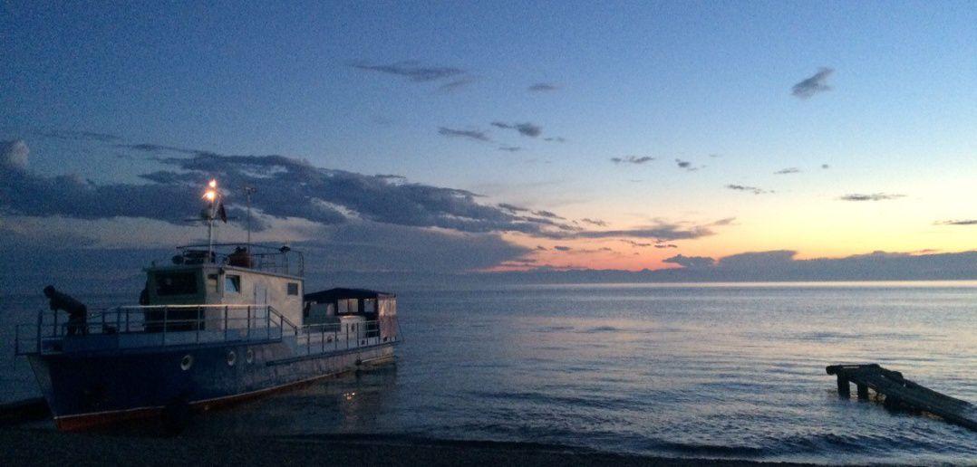 Закат, Байкал, фото