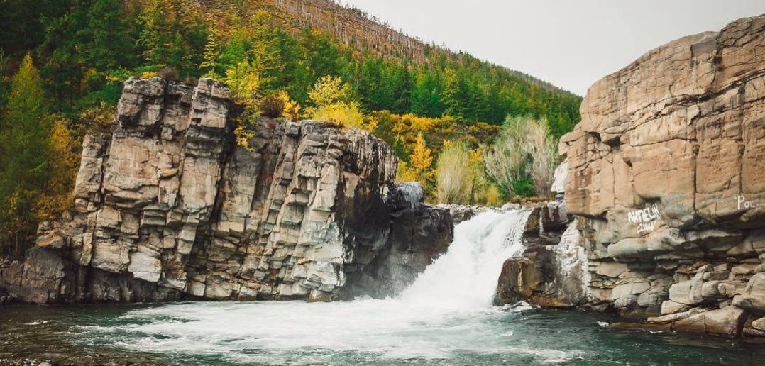 Водопад Шаалааш, Овюрский район, Тыва, Фото