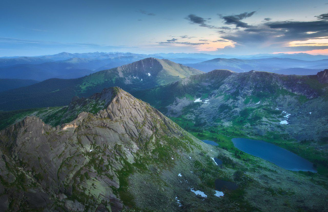 Перевал Птица, озеро Мраморное, гора Тушканчик, Ергаки, Фото