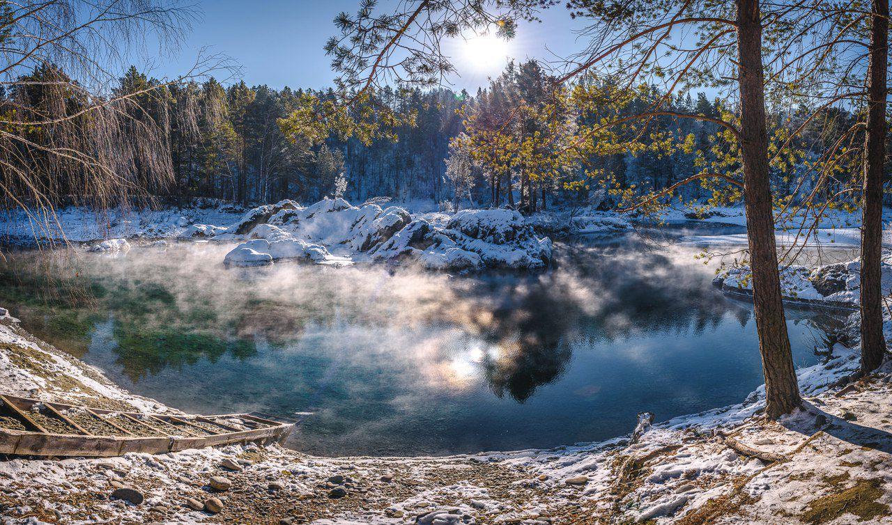 Голубые озера, Чемальский район, Горный Алтай, фото