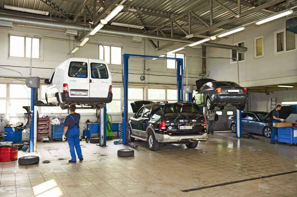 фотографии ремонтных мастерских автомобилей одному хитрому методу