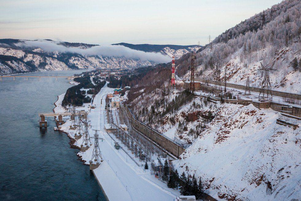 Красноярская ГЭС, Енисей, Фото