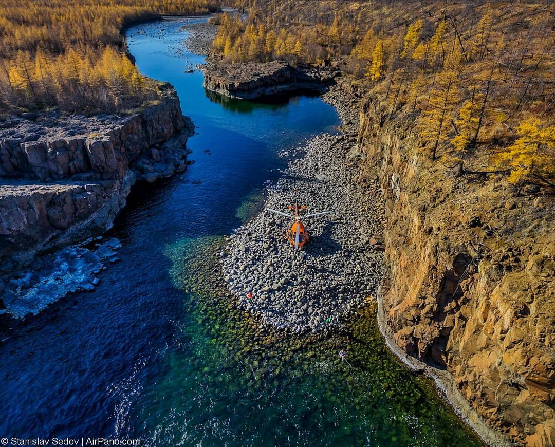 водопад Маячин, Плато Путорана, Фото