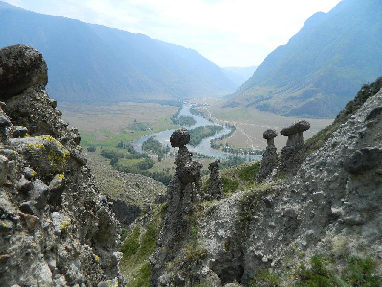 Каменные грибы, долина Чулышман, Республика Алтай, Фото