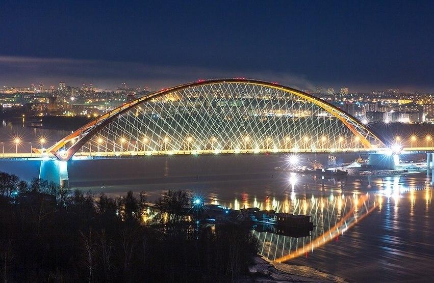 Новосибирск, Третий мост, Обь, Фото