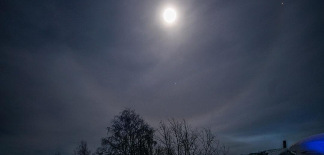Лунное гало, Поселок Сайга, Томская область, фото