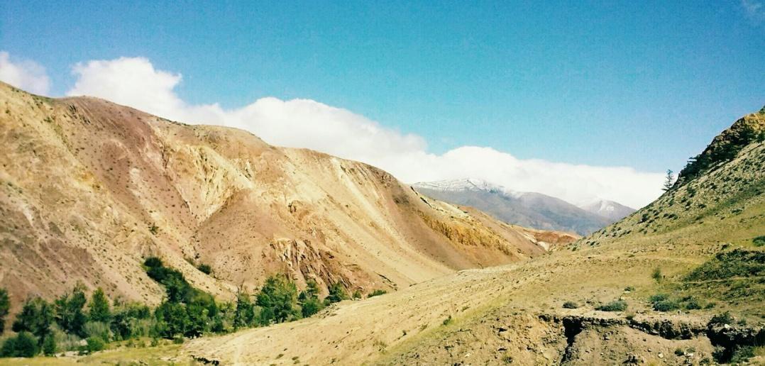 Марсианский пейзаж, Кызыл-Чин, горный Алтай, фото