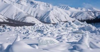 Ледяные торосы, Индигирке, Якутия, Фото