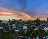 Закат в городе. Кемерово, 13.05.2017.   фото: Вадим Бояринов