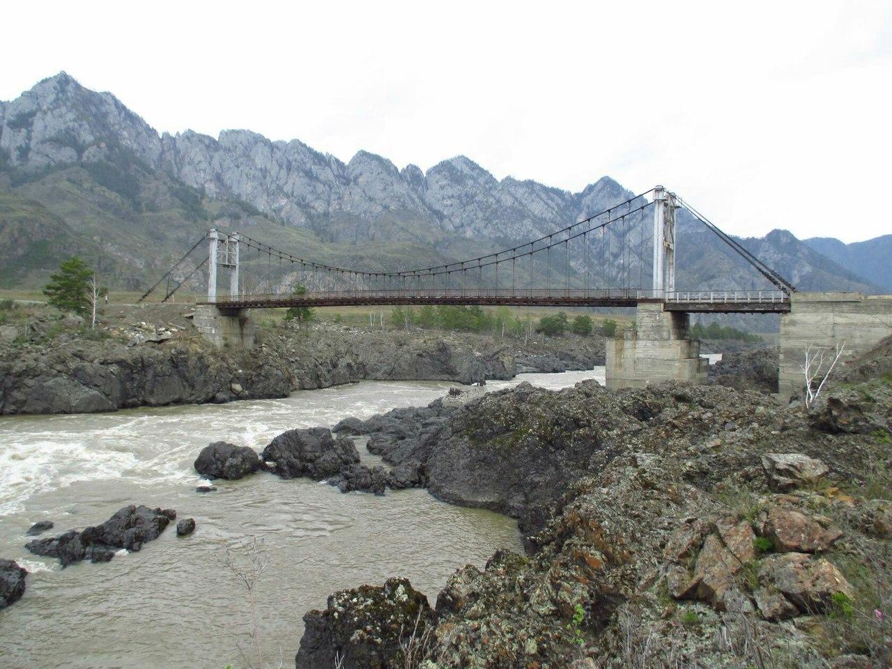 Ороктойский мост, Горный Алтай, фото