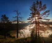Красоты Забайкальского края  Восход луны, освещает утренний туман.  фото: Анатолий Мишаков