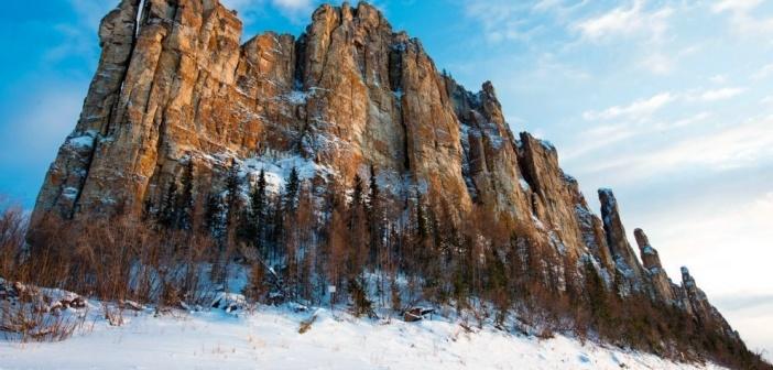 Ленские Столбы зимой.  Фото: Михаил Черемкин.