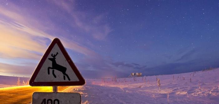 На заполярных дорогах…  Ямало-Ненецкий автономный округ.   Фото: Сергей Анисимов