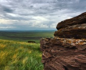 Хакасия. Вид с горы Чалпан. Снято на телефон.   фото: Сергей Борисов