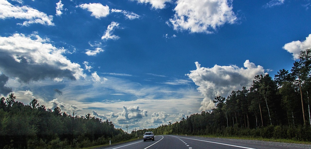 Трасса Нефтеюганск - Сургут, ХМАО, фото