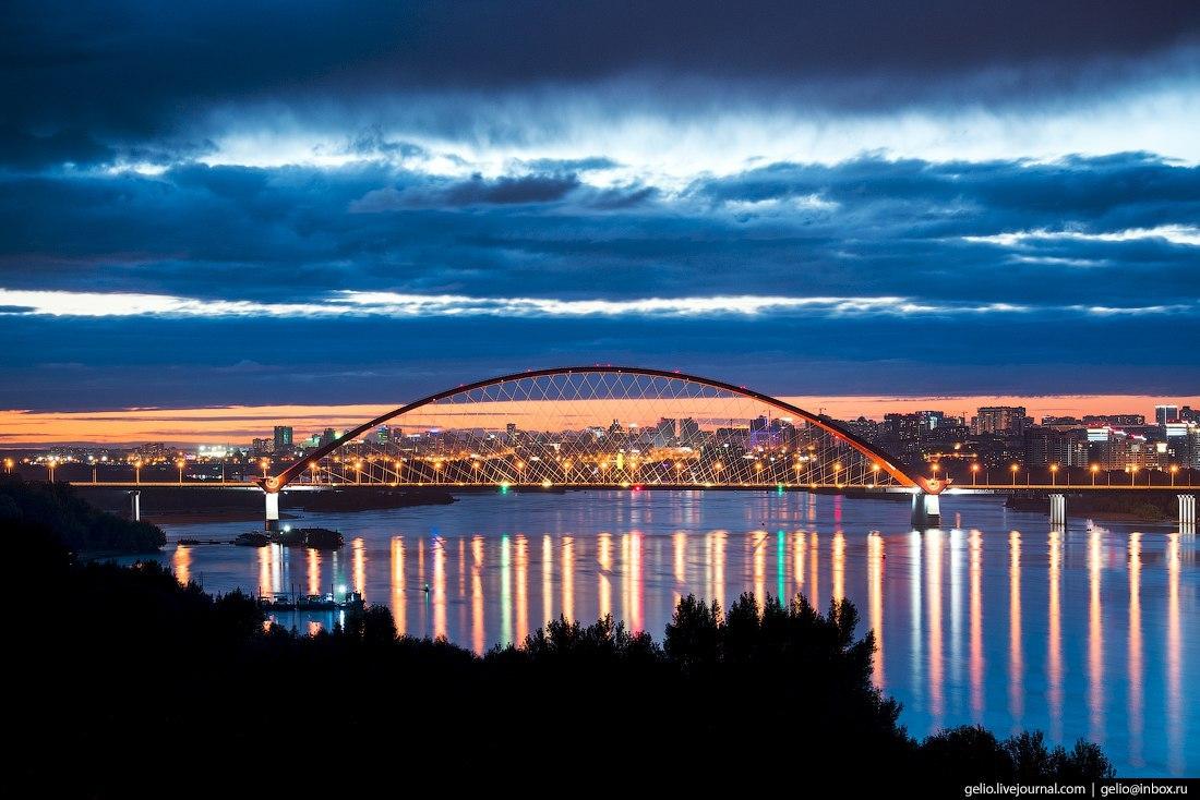 Бугринский мост, Новосибирск, фото