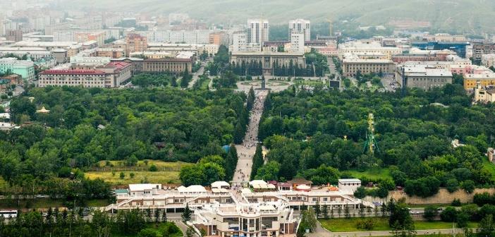 Красноярск с вертолёта.   фото: Михаил Чистяков