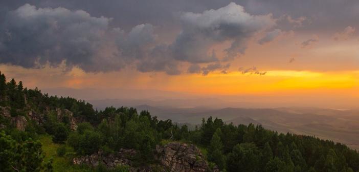 Алтайский закат, гора Бабырган  Фото: Наталья Белкина
