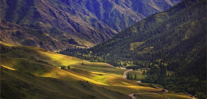 Вид с перевала Чике-Таман, Алтай Фото: Сухоребриков Павел