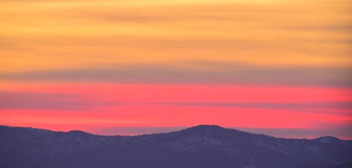 Катунский хребет. 9 октября. Закат. Триптих.   фото: Вацлав Левицкий