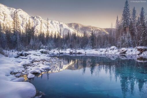 Гейзерное озеро , Алтай, фото