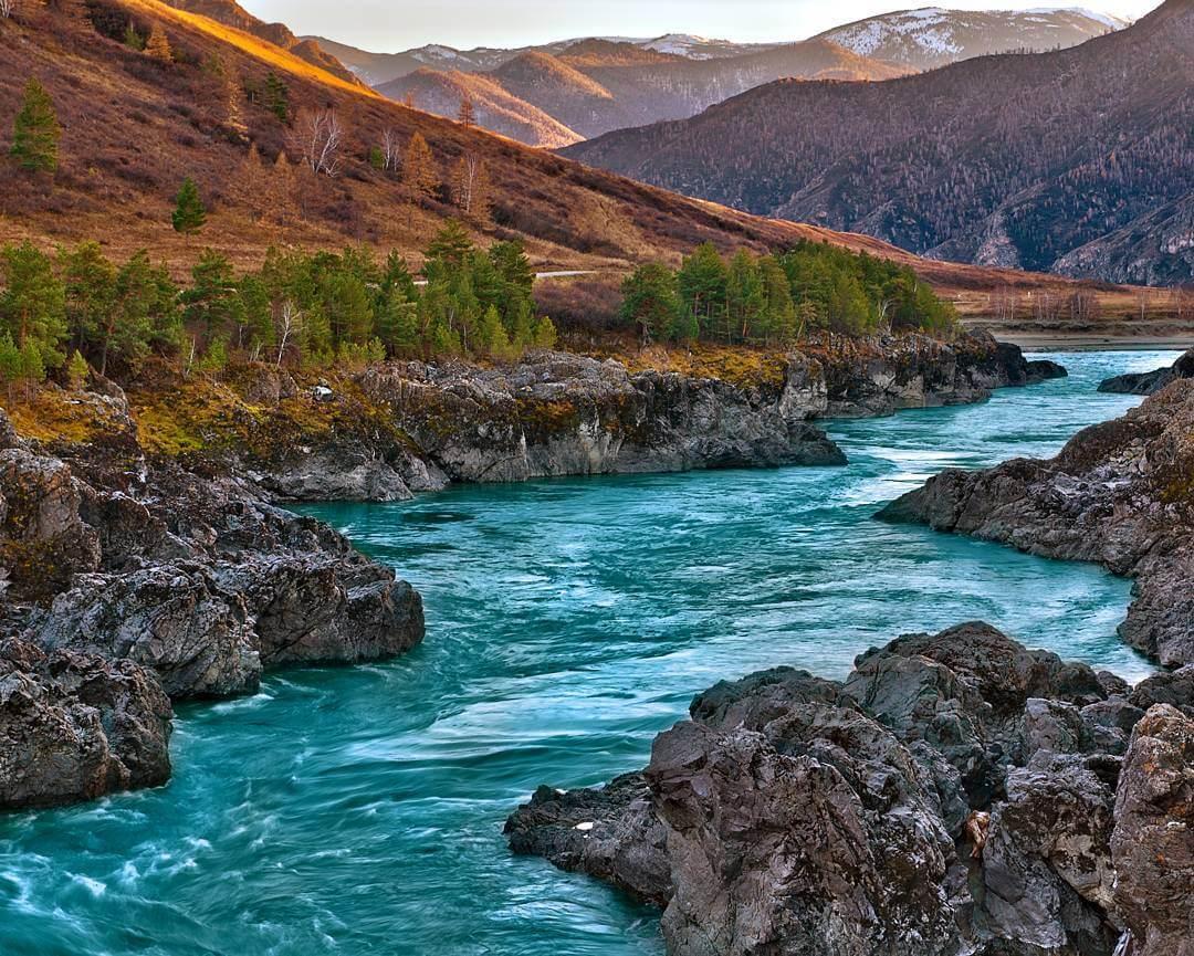 Река Катунь, Алтая, Фото