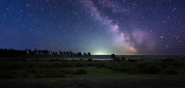 Звездная ночь. Бурятия.  Фото: Сергей Куликов.