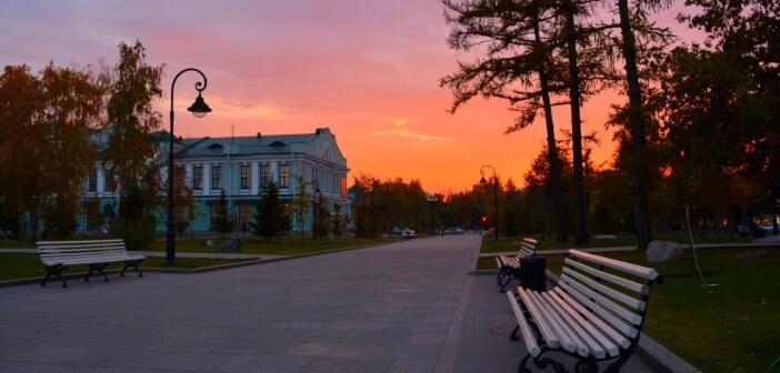 ОМСК. «Уютный» вечер октября.   фото: Сергей Серебрянников