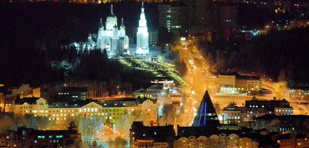 Вечерний Ханты-Мансийск.