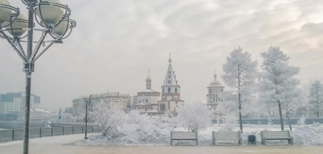 Морозное Иркутское утро.