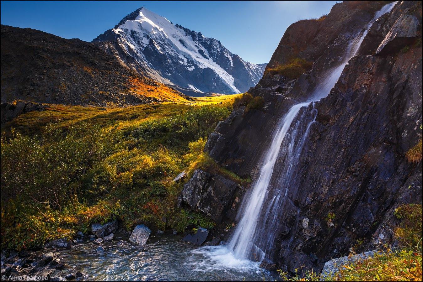 Водопад в долине семи озер.