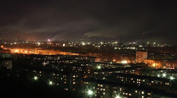 Ночной Новокузнецк.  Фото: Дмитрий Панов