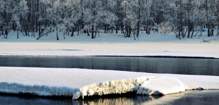 Река Томь, город Новокузнецк, февраль. Фото: Софья Дроздова